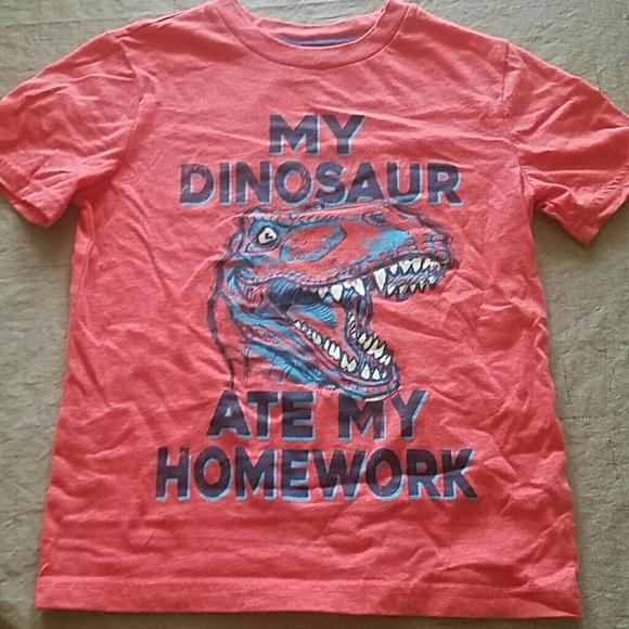 Arizona Jean Company Shirts Tops Boys Arizona My Dinosaur Ate My Homework Tee 8 Poshmark
